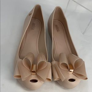 Mel By Melissa Sz 9 Nude Pink Low Wedge Shoes